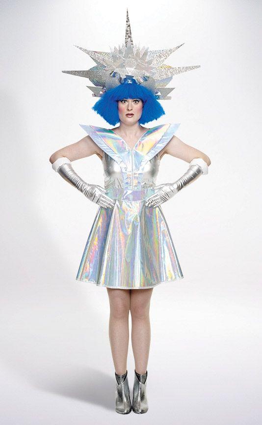 Galaxy Warrior Futuristic Costume Space Girl Costume Space