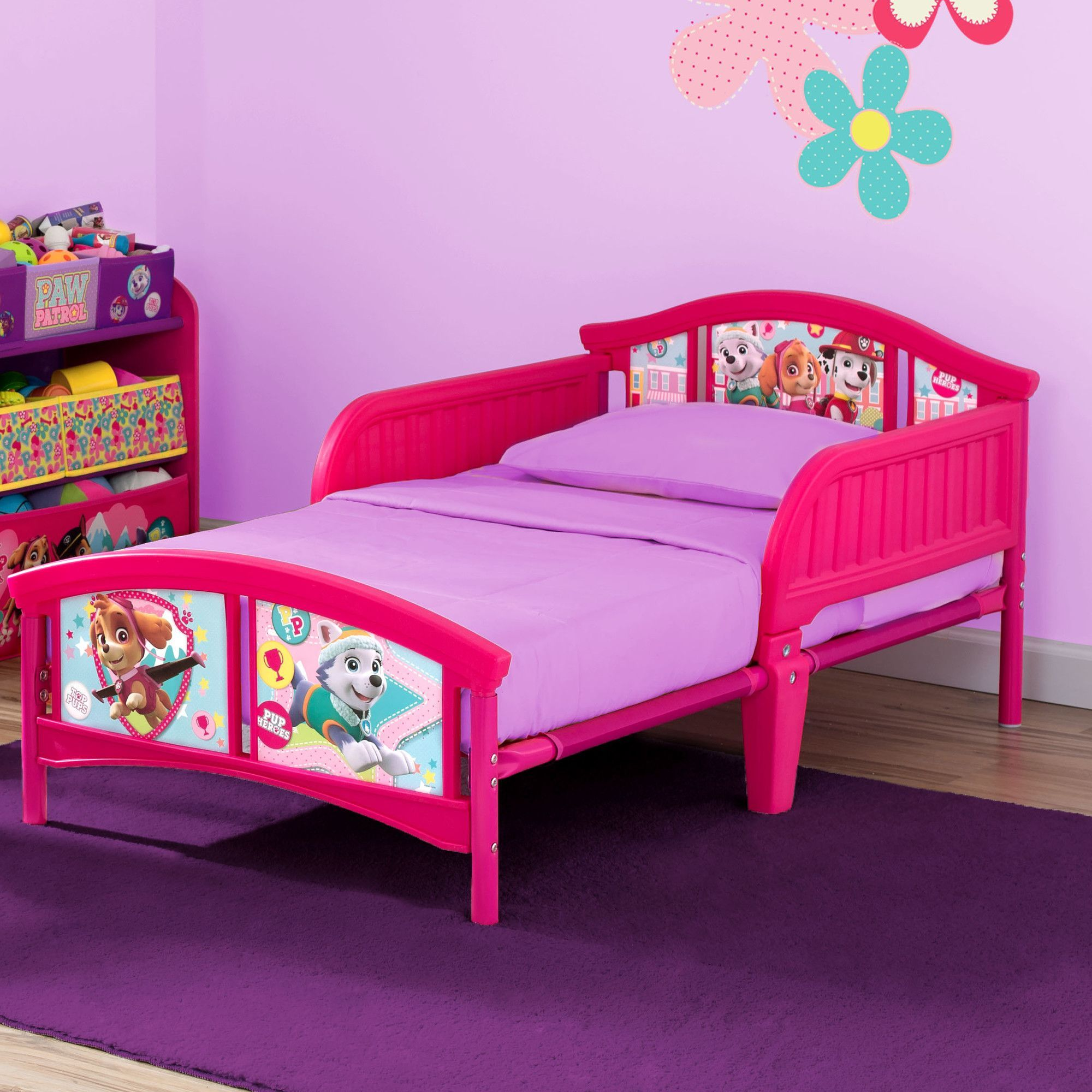 Nick Jr. PAW Patrol Skye and Everest Plastic Toddler Bed ...