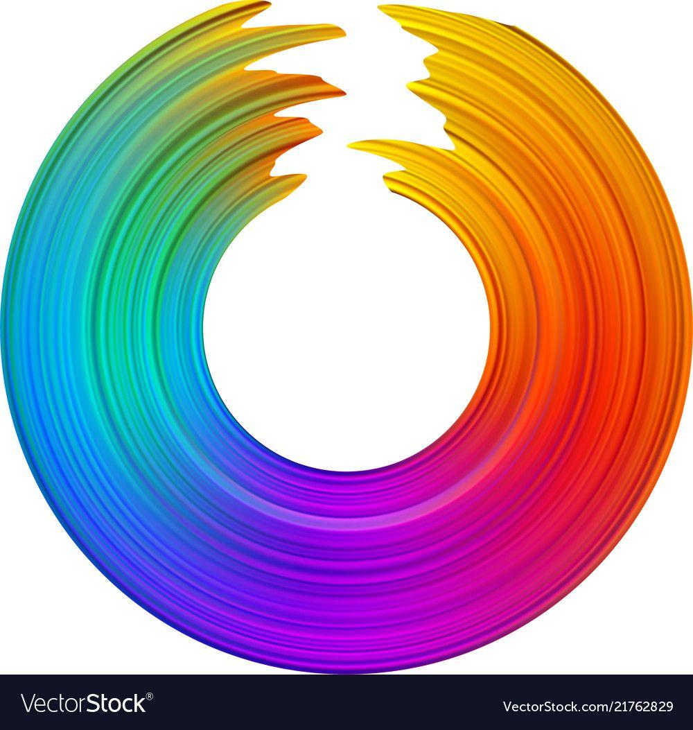 Colorful gradient brush stroke spectrum vector image on