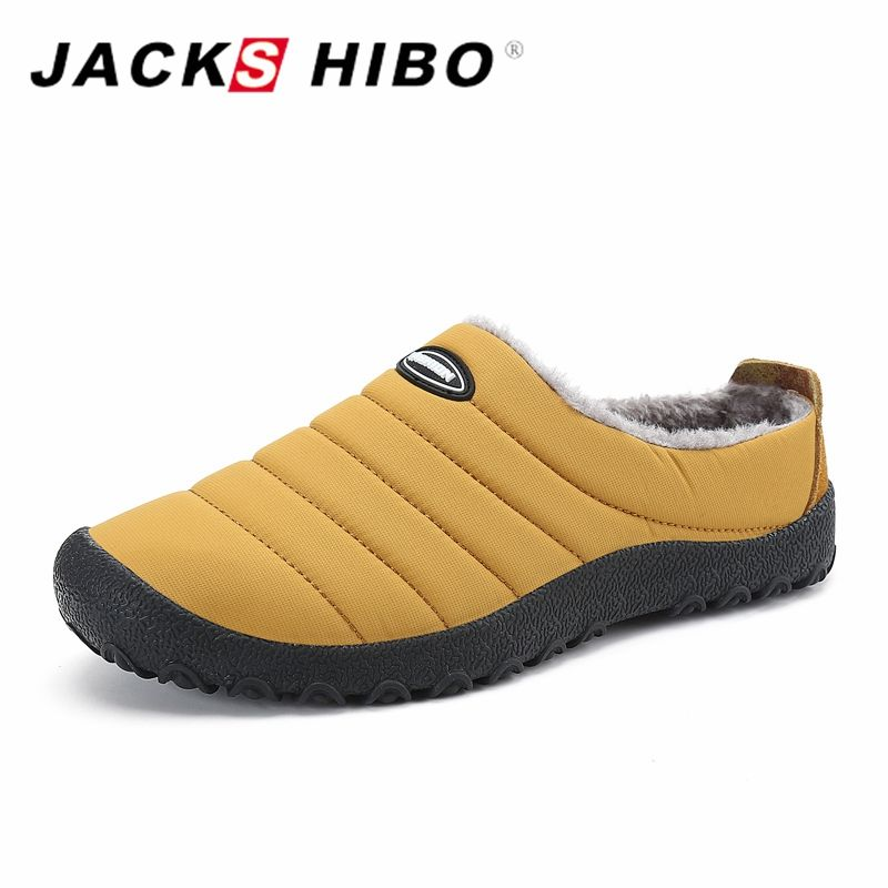 f307b34ad574c [ 42% Off ] JACKSHIBO Winter Plush Men Slippers Big Size Slides Shoes Men's Home  Slippers Unisex Fleece Warm Fur Thicken Cotton-padded Shoes