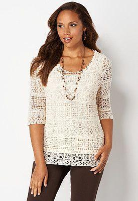 #CBFallFavorites Crochet Shirt, 9-0035993916, Crochet Shirt Main View P275W