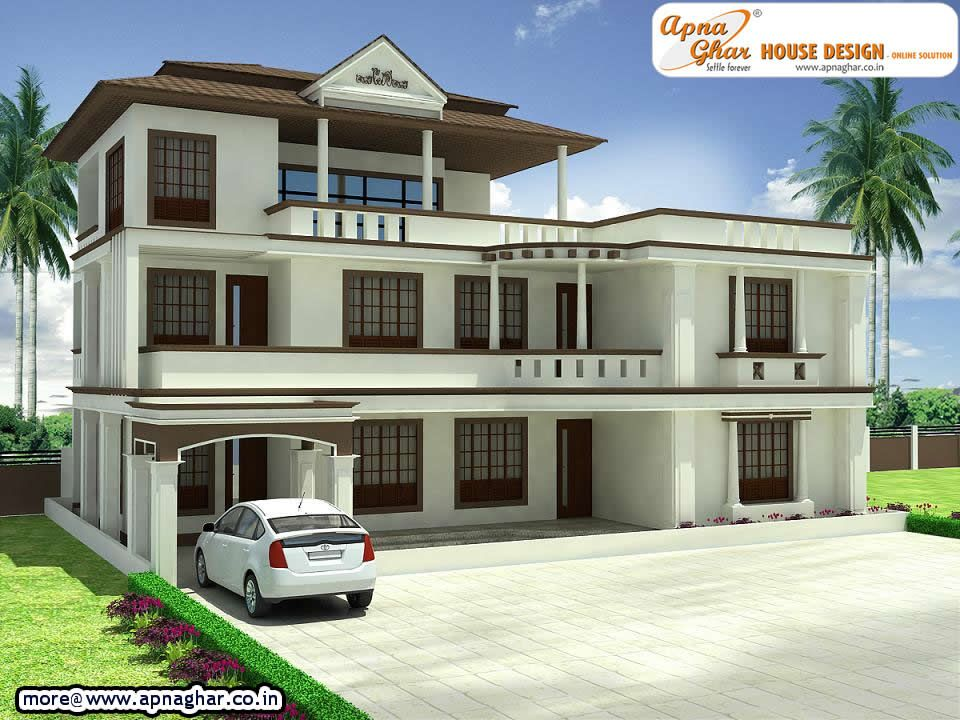 4 bedroom, modern triplex (3 floor) house design. Area: 234 sq mts ...