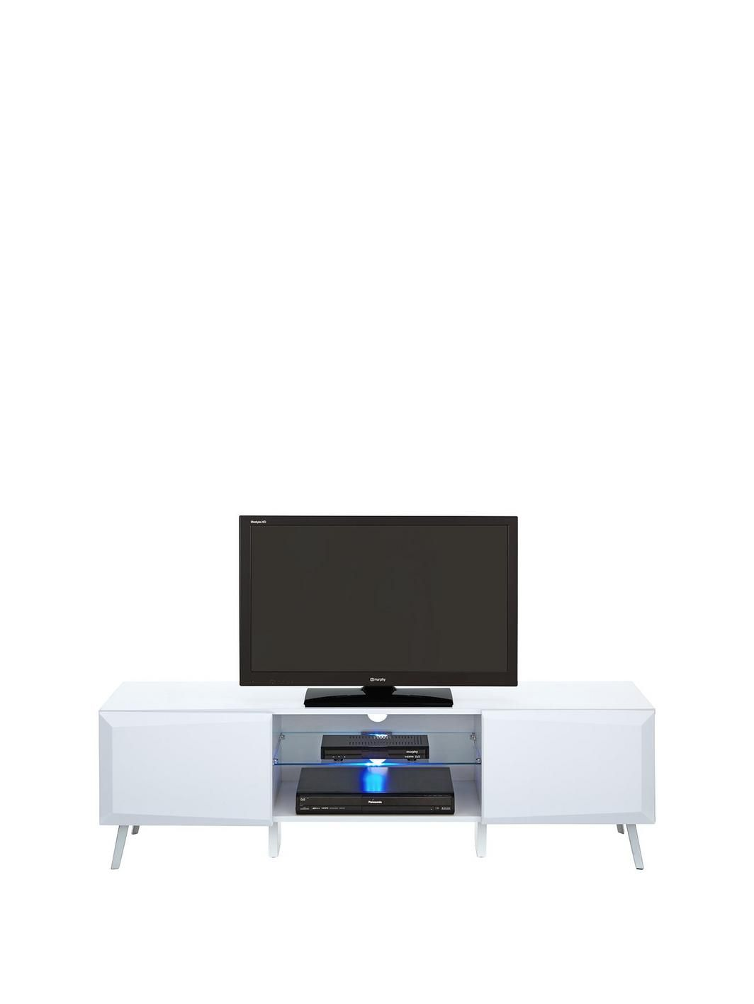 Xander Wide High Gloss Tv Stand With Led Lights Fits Up To 65 Inch