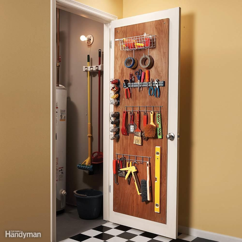 Backofdoor Organizer  Household Tips  Pinterest  Hollow Core Entrancing Kitchen Storage Cabinets With Doors Review