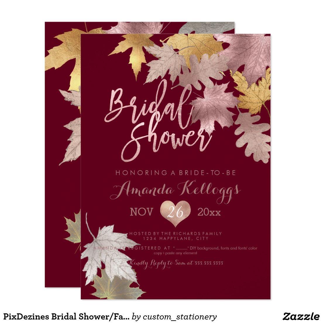 PixDezines Bridal Shower/Fall/Faux Foil | Rose Gold Trends ...