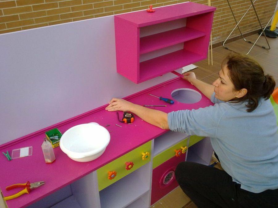 Cocina de juguete paso a paso casas mu ecas pinterest - Cocinas de madera para ninos ikea ...