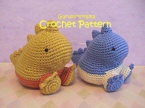 Free Kawaii Amigurumi Patterns : Kawaii crochet dinosaur pattern crochet amigurumi pattern plush
