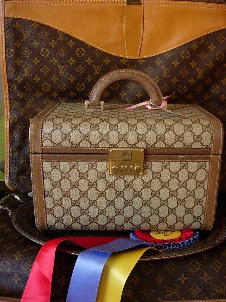 6f680f0d3246 Ultra RARE Vintage GUCCI Train Case Tote Duffel Luggage Travel Suitcase  Keepall #GUCCI #TrainCase