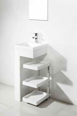 17 Best Images About Pedestal Sink Storage Solutions On Pinterest