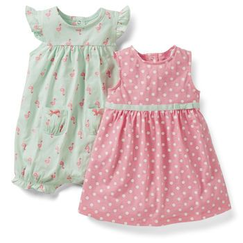 3-Piece Dress & Romper Set from @Carter White\'s Babies and Kids ...