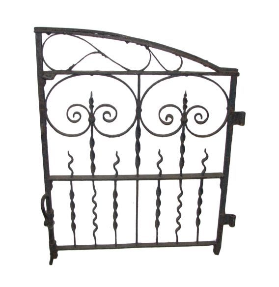 Beautiful 1920s Wrought Iron Gate With Ornamental Features