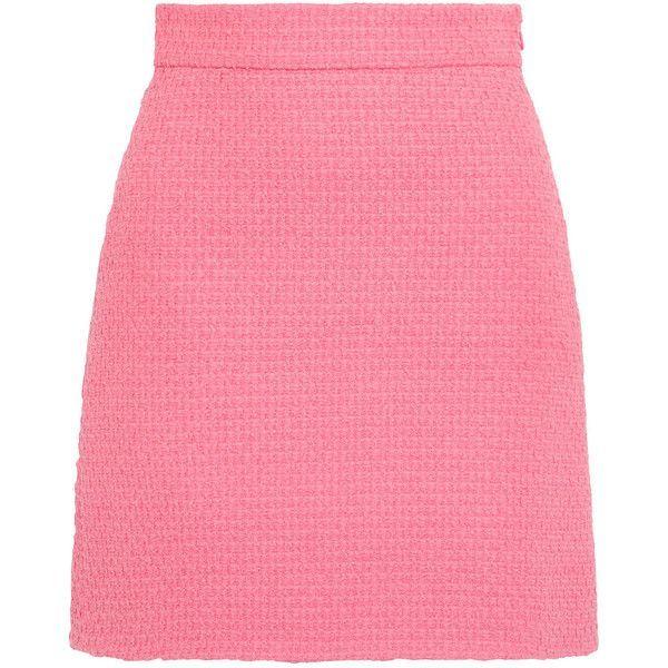 d7e5c623fe ... Miniröcke, Gucci, Rosa, Tweed, rosa Rock, rosa Tweedrock, kurze Röcke  und Minirock, Gucci Cotton-blend tweed minimal skirt (2.280 BRL) ❤ liked ...