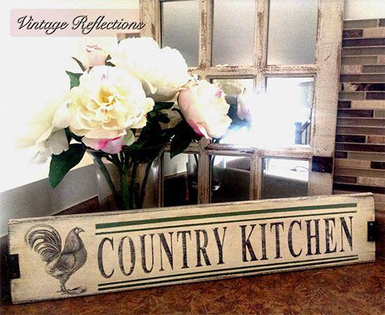 9 DIY Vintage Rooster Projects. Vintage Kitchen SignsVintage ...