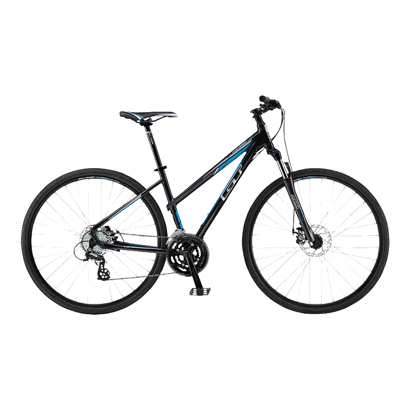 GT Transeo 4.0 Black Hybrid Women's Bike Bike, Street