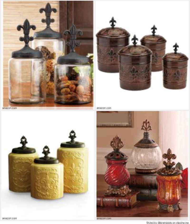 Fleur De Lis Kitchen Canisters Ideal For Storage Around The Kitchen