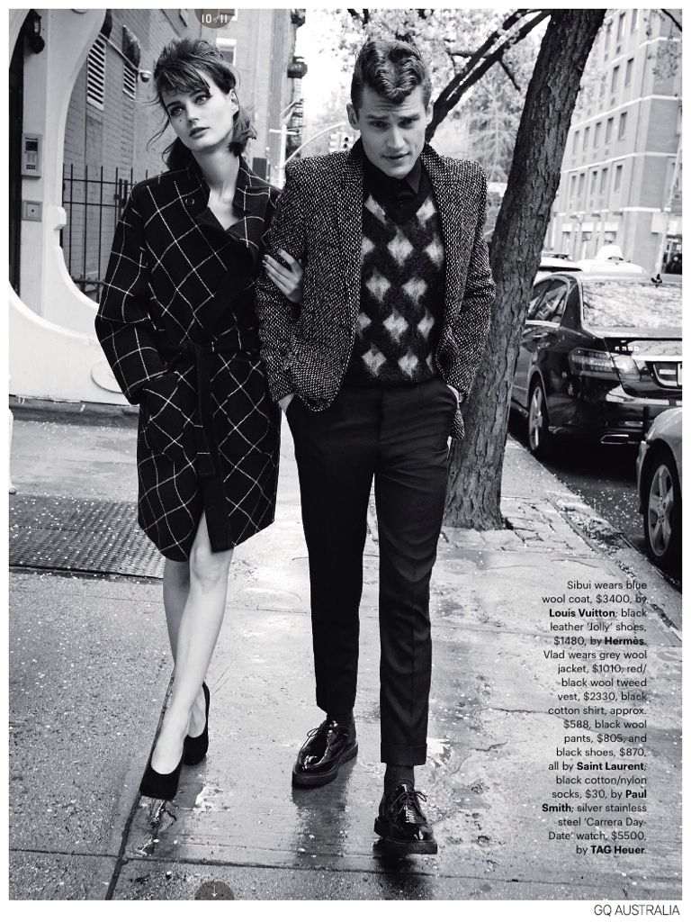 Vladimir Ivanov Demy Matzen Model 60s Inspired Fashions For Gq Australia 60s Inspired