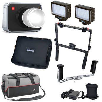 Blackmagic Design Blackmagic Cinema Camera EF Mount Kit with Handgrips & LED Lights - Perfect holiday gift!