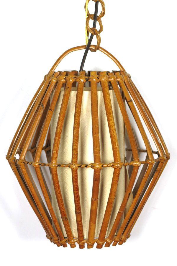 suspension en rotin et papier vintage suspensions baos concept store vintage et contemporain - Baos Vintage