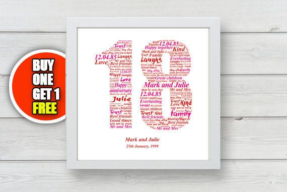 18th anniversary 18th anniversary gift by pienosudesigns on Etsy