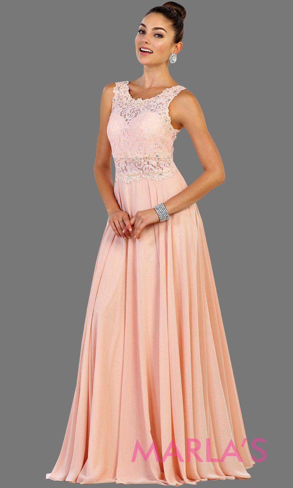 May Queen Mq1539 High Neck Flowy Dress Lace Bodice Dresses Flowy Dress Formal Dresses [ 1666 x 1000 Pixel ]