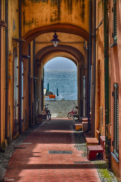 Sea Passage, Varigotti, Liguria, Italy photo via lina. For more on Varigotti visit http://www.my-italy-piedmont-marche-and-more.com/best-beaches-in-liguria.html