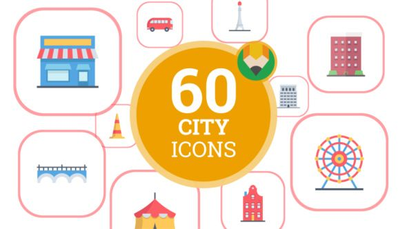 Icons Pack Smart City House Building Flat Animated Icons By Animated Icons Easy Setup And Quick Customizing Quickly Ea Animated Icons City House Smart City