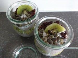 chia pudding met kiwi
