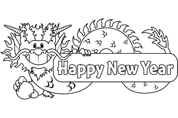 Happy New Year 2015 Coloring Pages