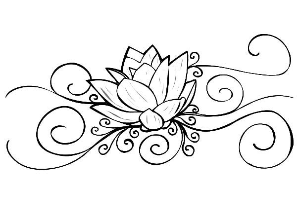 Lotus Flower Lotus Flower Tattoo Coloring Pages Lotus Flower