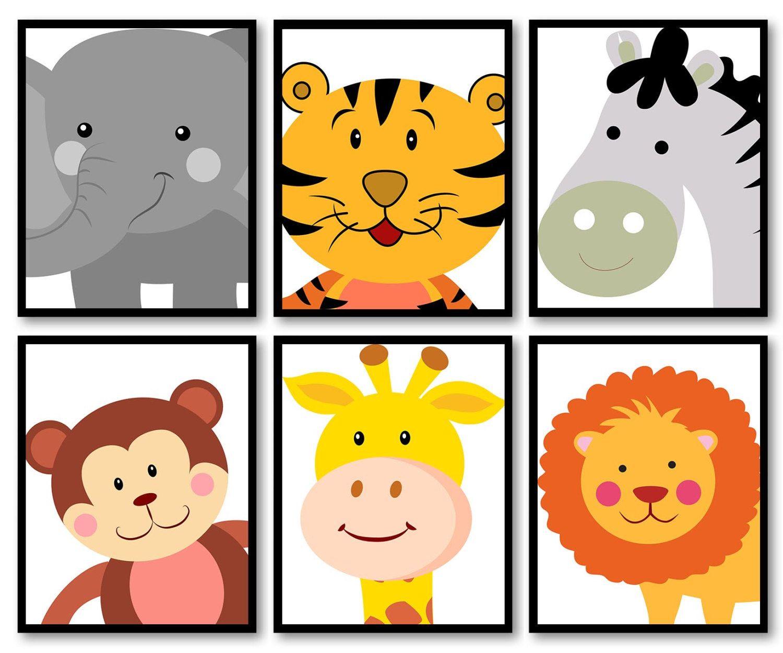 African Africa Animals Kids Children Art Nursery Print Child Baby ...