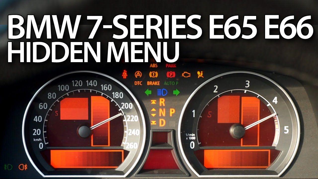 How to enter hidden menu in #BMW #E65 (7-series #service #test mode