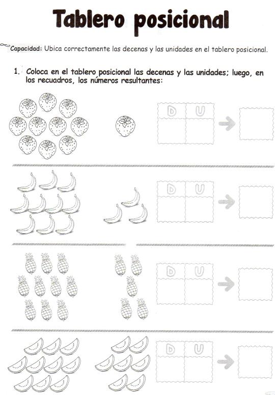 Tablero posicional: 5 años - Material de AprendizajeMaterial de ...