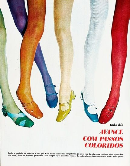 4895ff40cd720 Coloured tights and shoes #60s | Sixties | Fashion, Mod shoes, 60s ...