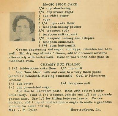 Family Recipe Friday Magic Spice Cake Genealogy