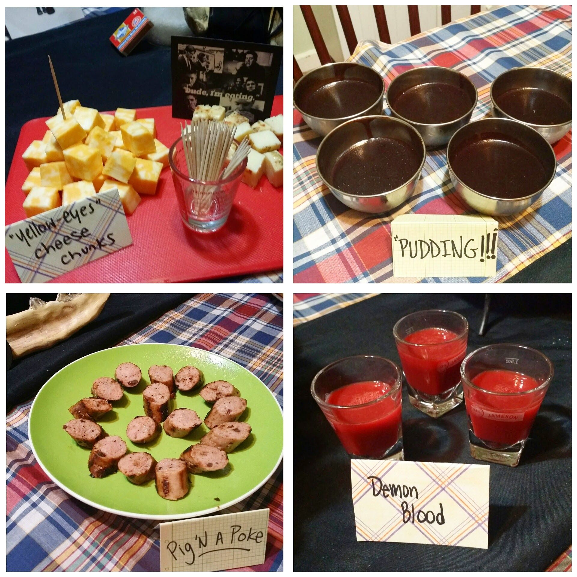 Supernatural themed birthday party