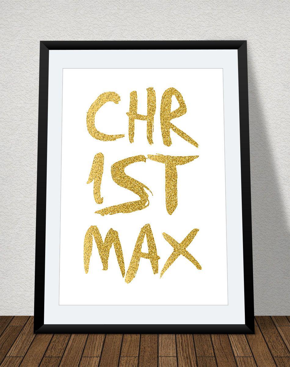 Printable Christmas Card, 8x10, Christmas Poster, Xmas Note Card ...