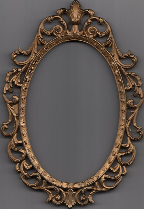 antique mirror frame tattoo