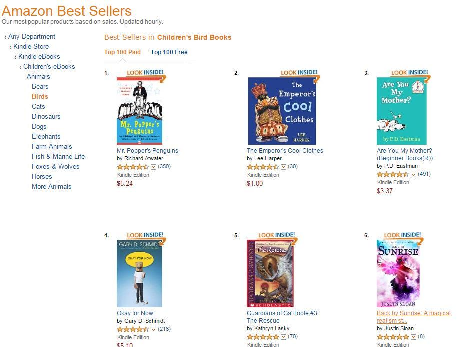 Excited to see #BackBySunrise at #6 in #AmazonBestSellers #ChildrensBird #books   http://www.amazon.com/Back-Sunrise-magical-realism-Eternal-ebook/dp/B00PXPFFP2/ref=zg_bs_155018011_6