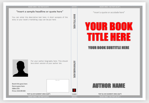 Cover templates for print use ms word to create for Design a book jacket template