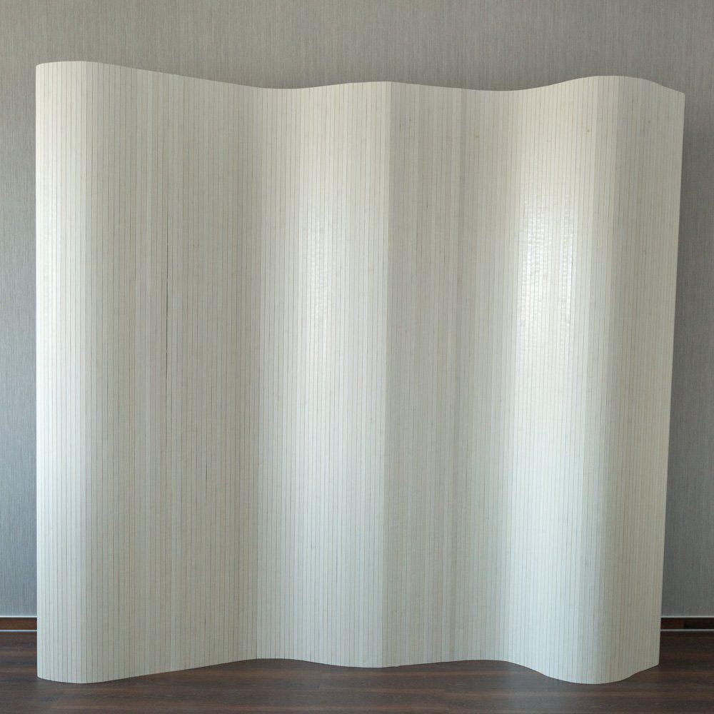 paravent partition d 39 cran de s paration chambre paravent en bambou blanc home maisons de. Black Bedroom Furniture Sets. Home Design Ideas