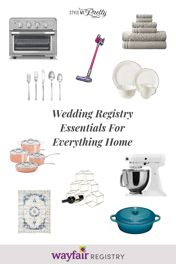 Wayfair Registry One Registry For Everything Home Wedding Registry Essentials Wayfair Registry Wedding Day Checklist