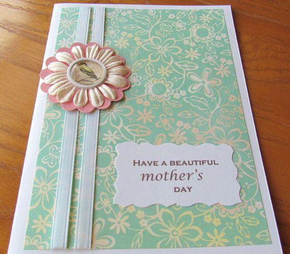3d mothers day card paper flower  bird card inside