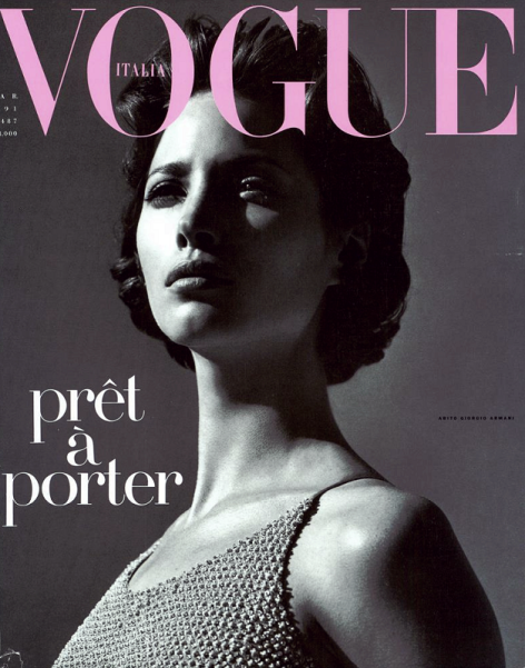 Christy Turlington by Steven Meisel for Vogue Italia March 1991