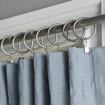 Wayfair Basics Curtain Ring Finish Nickel Diameter 1 5
