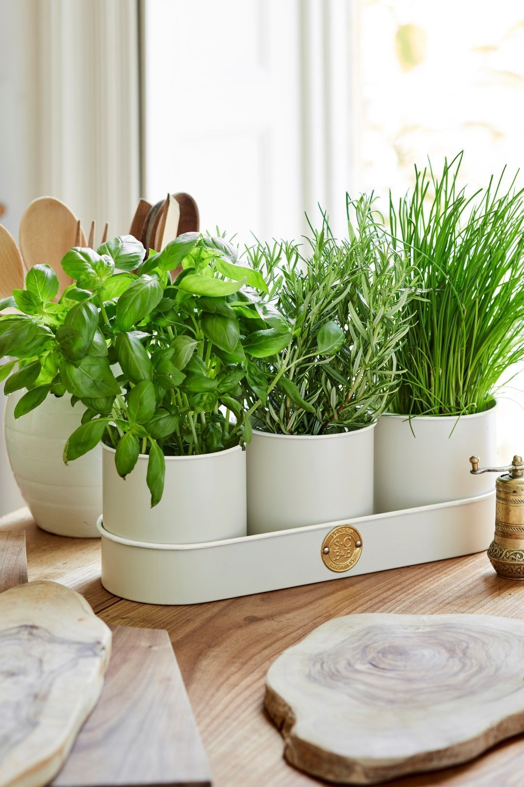 grow your own mini herb garden with this handy trio of herb pots from sophie conran and burgon on outdoor kitchen herb garden id=54114
