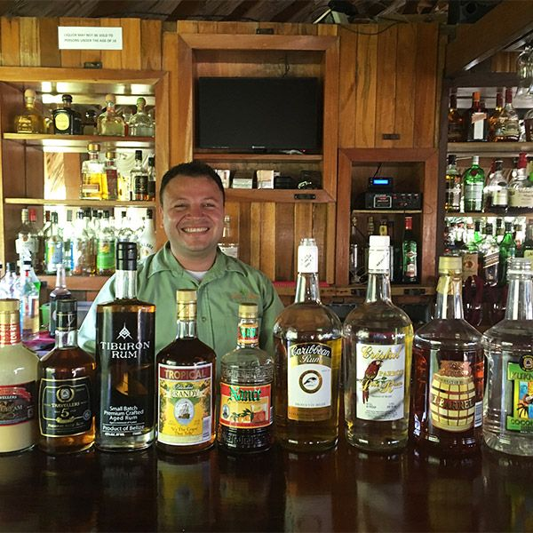 A Variety Of Belizean Local Rums And Mix Drinks Available