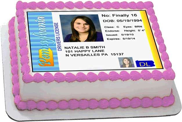Pennsylvania Driver S License Cake Top Decorations With Images