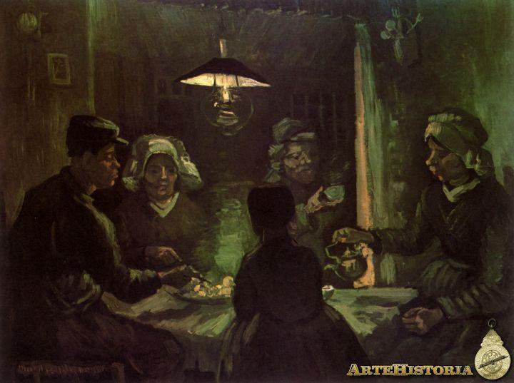 Los Comedores de patatas, Vincent Van Gogh, 1884 POSTIMPRESIONISMO ...