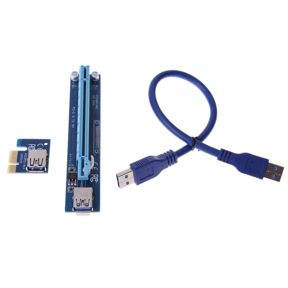 Click To Buy Graphics Card Riser Pci E 1x 16x Extender 50cm Micro Sata Data Cable Power