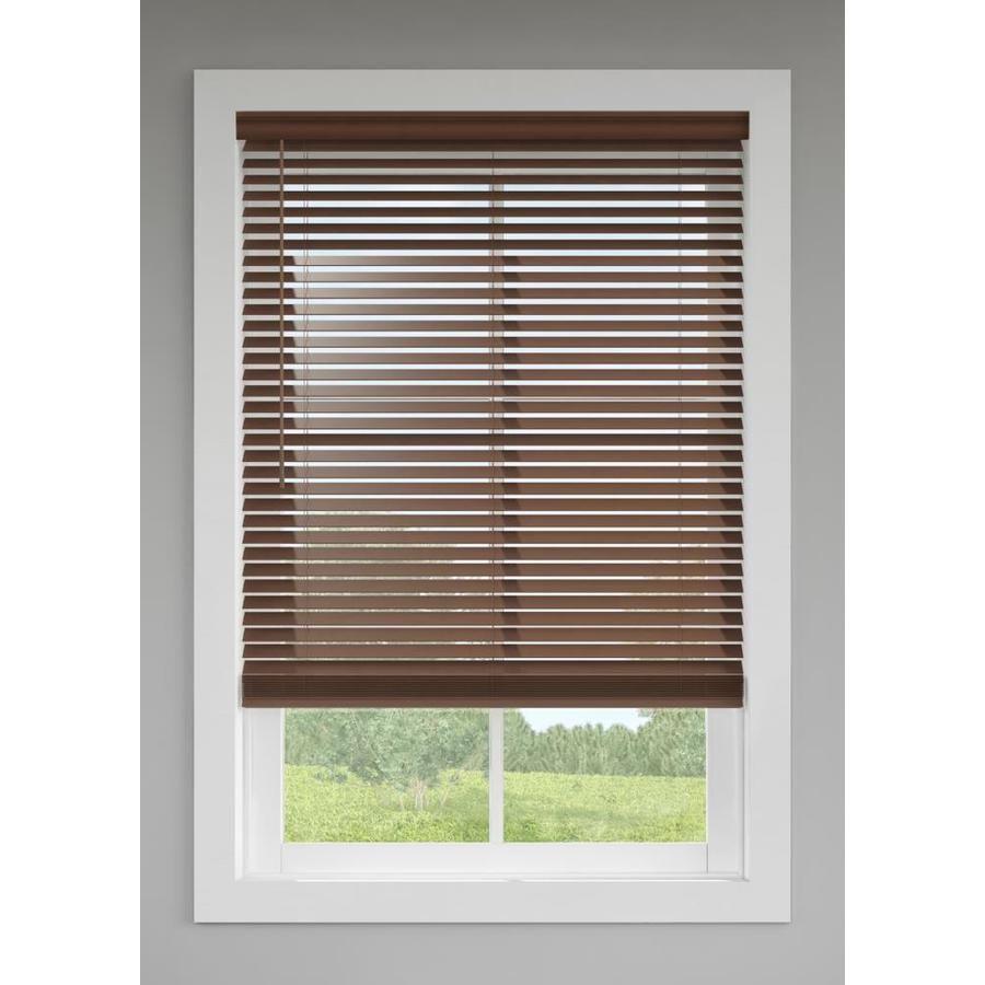 Levolor Trim Go 2 In Cordless Walnut Faux Wood Room Darkening Blinds Common 57 In Actual 56 5 In X 64 In In Brown 20 In 2020 Faux Wood Blinds Blinds Wood Blinds